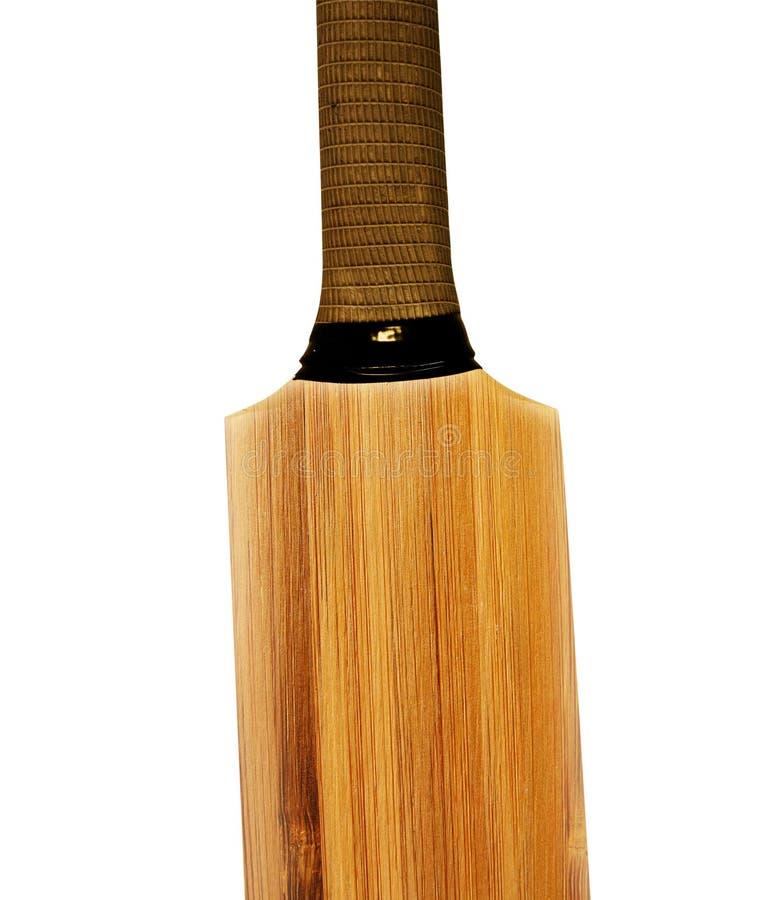 Cricket bat. Wooden Cricket bat on white background stock photo