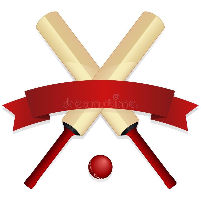 Free Cricket Bat Emblem Stock Photos - 18585043