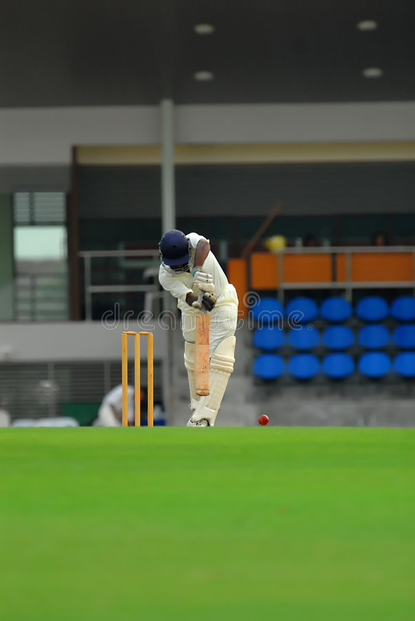 A Cricket Batsman Stock Images