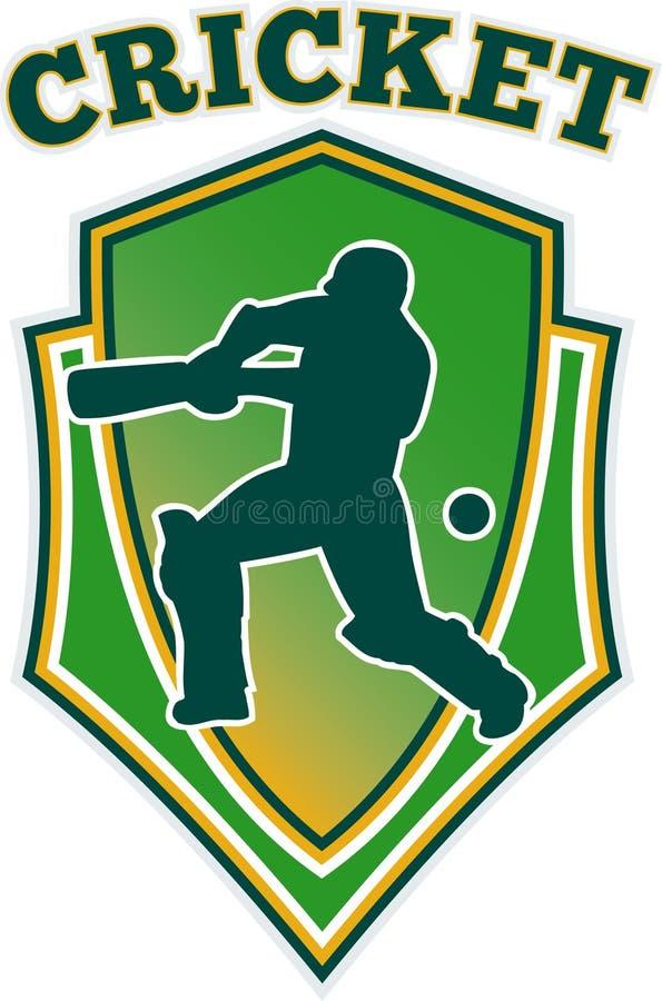 Download Cricket Batsman Batting Shiel;d Royalty Free Stock Images - Image: 19894839