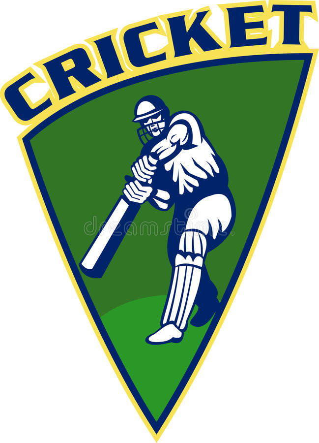 Cricket batsman batting shield