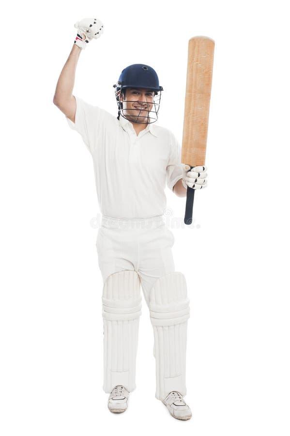 Free Cricket Batsman Celebrating His Success Royalty Free Stock Photos - 36577978