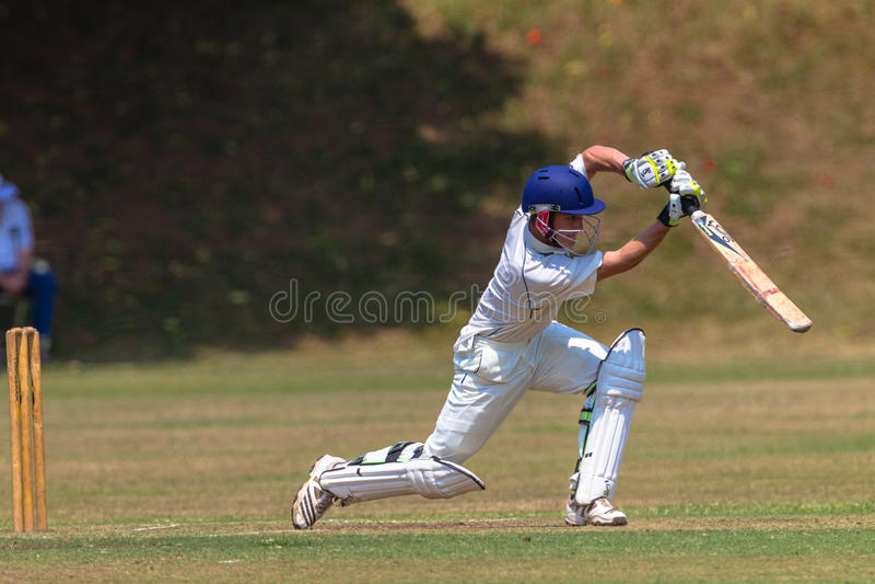 Cricket Batsman Stroke Action Editorial Photo