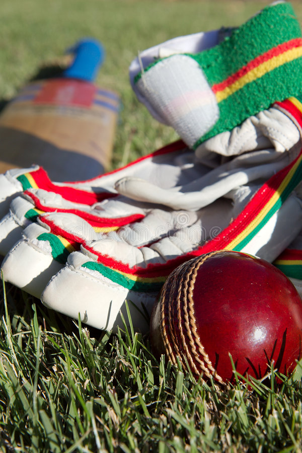 Cricket equipment. royalty free stock photography