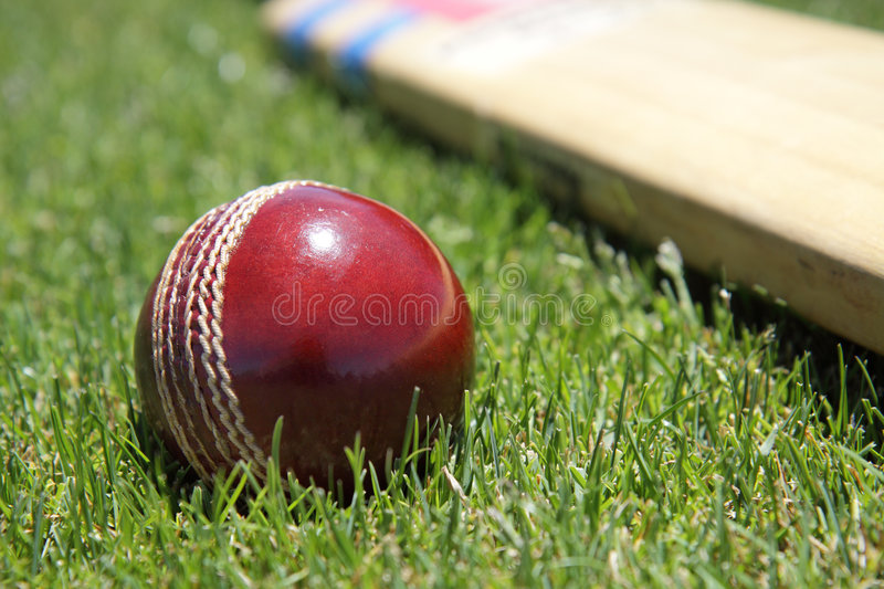 Cricket equipment. royalty free stock images