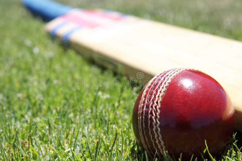 Cricket equipment. stock photography