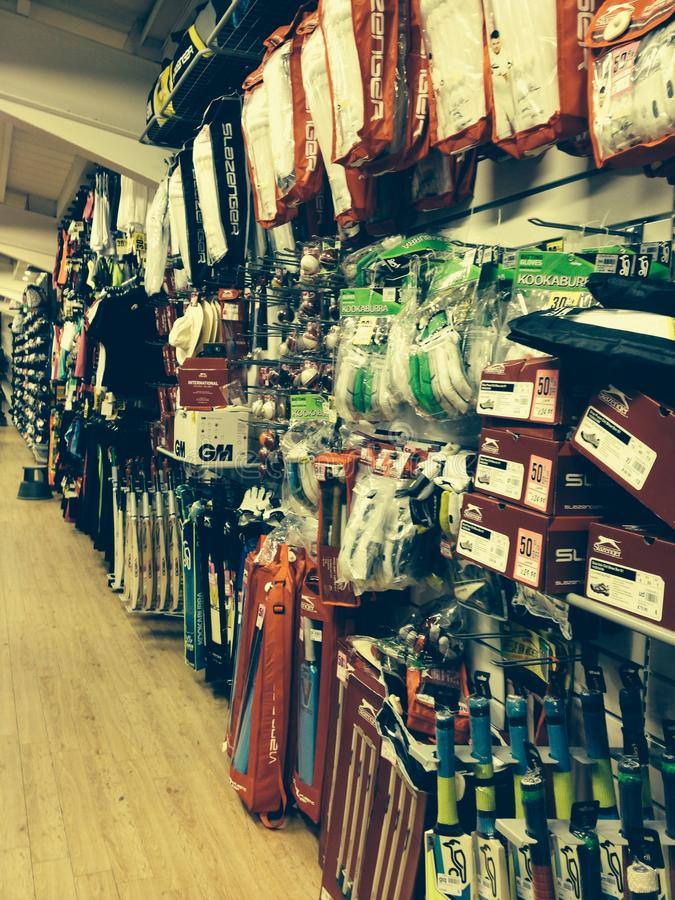 Cricket equipment royalty free stock photos