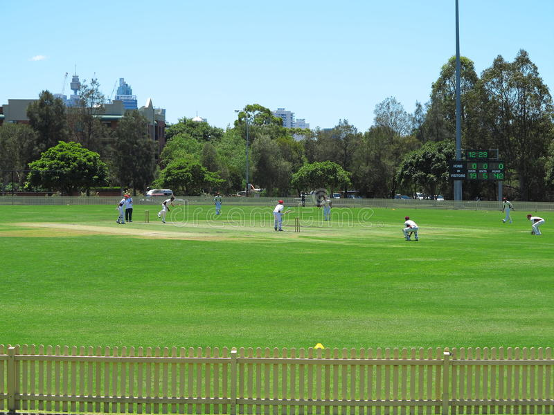 Cricket Game Scene Editorial Photo