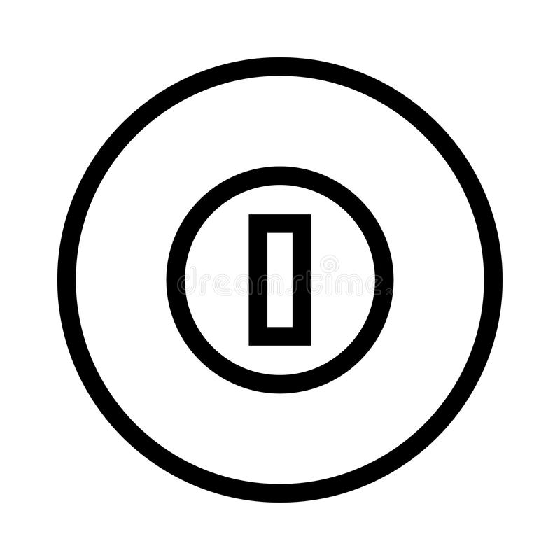 Cricket ground icon. Cricket ground thin line icon stock illustration