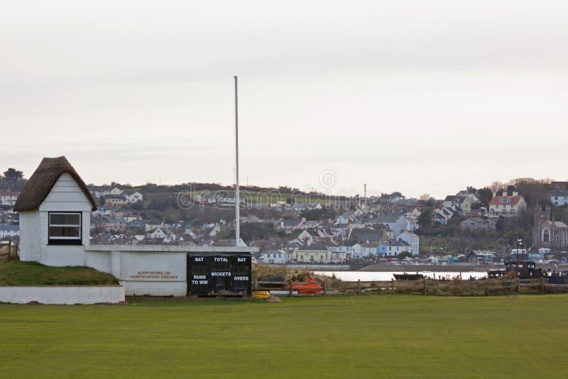 Download Cricket Ground in Winter stock image. Image of scorehut - 23887165