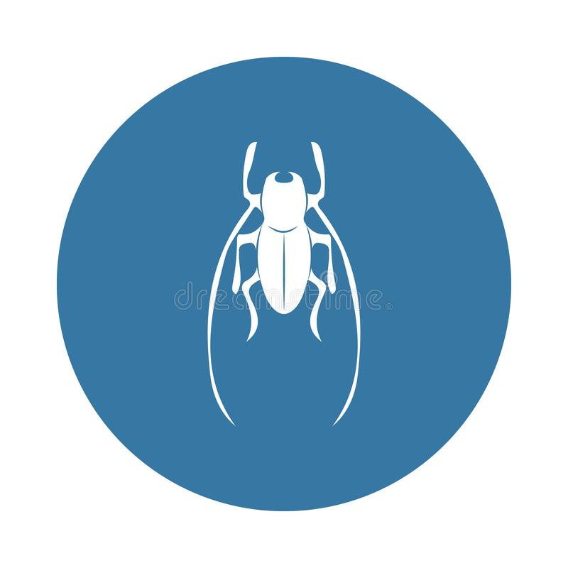 Cricket icon. Element of insect icons for mobile concept and web apps. Badge style cricket icon can be used for web and mobile app. S on white background royalty free illustration