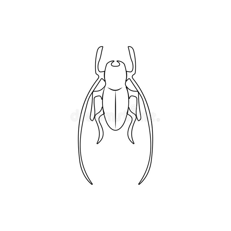 Cricket icon. Element of insect for mobile concept and web apps icon. Thin line icon for website design and development, app. Development on white background stock illustration