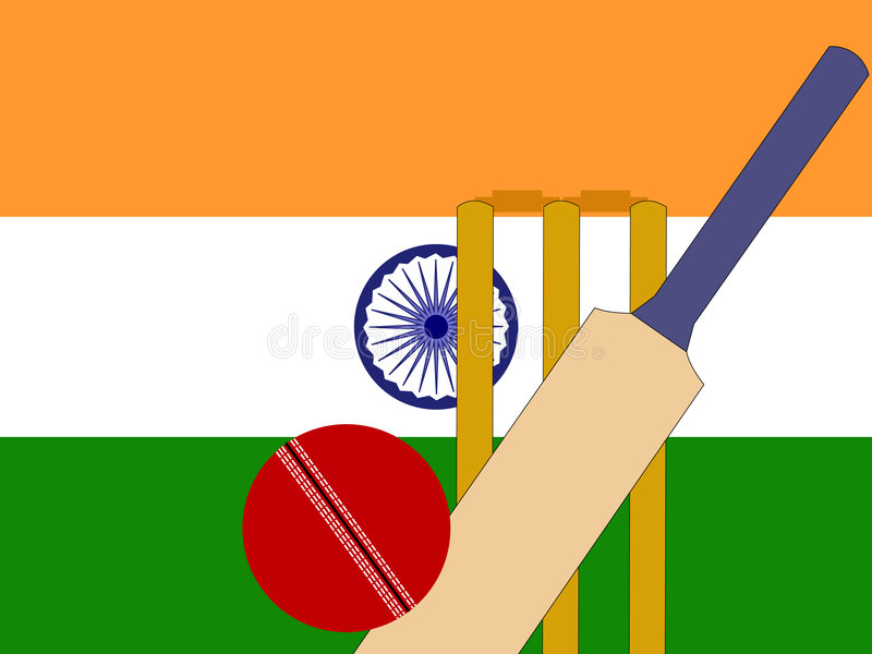 Download Cricket indien illustration de vecteur. Illustration du récréation - 2140604