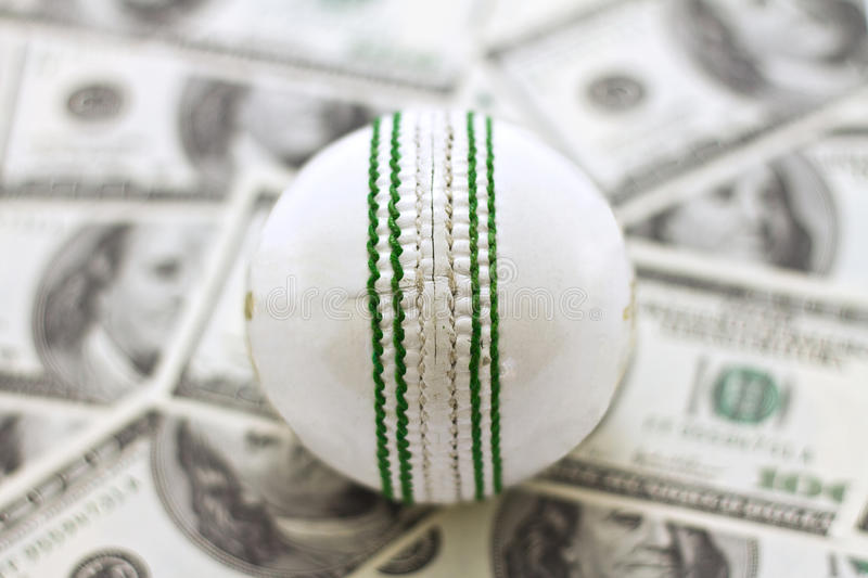 Cricket and Money stock images