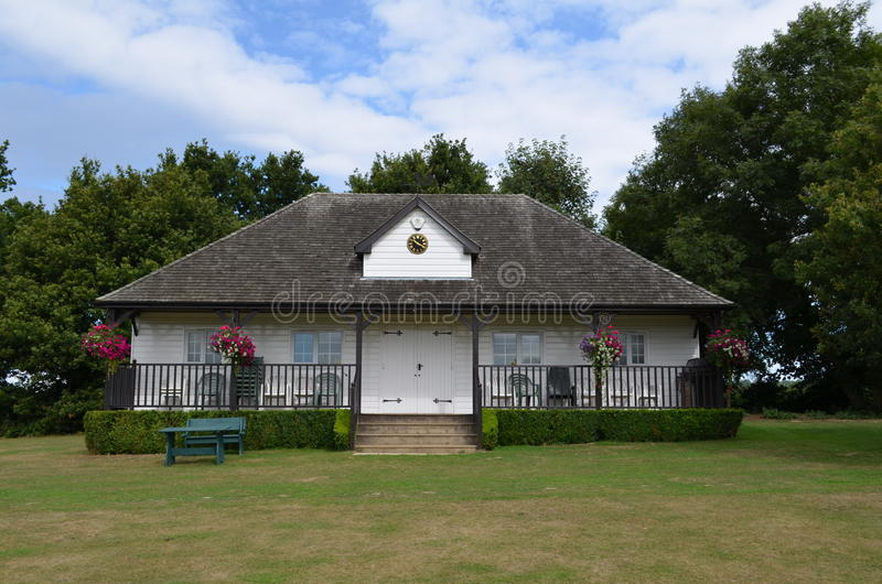 Cricket pavilion. Old wooden cricket pavilion at Bolney village in Southern England royalty free stock photos