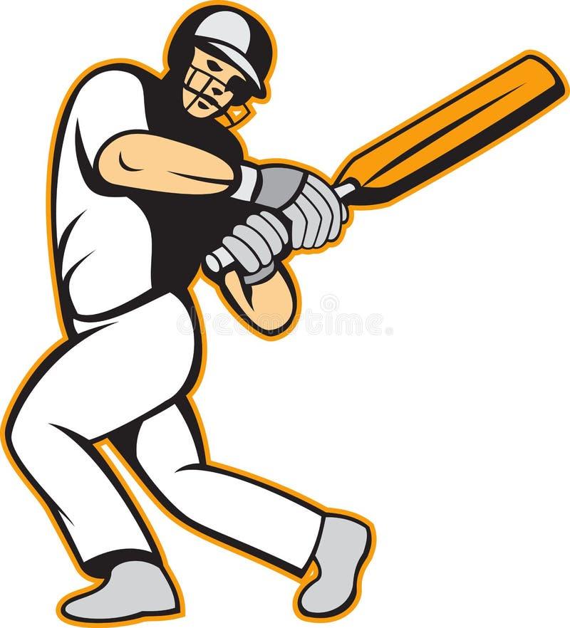 Download Cricket Player Batsman Batting Stock Vector - Illustration: 25894919