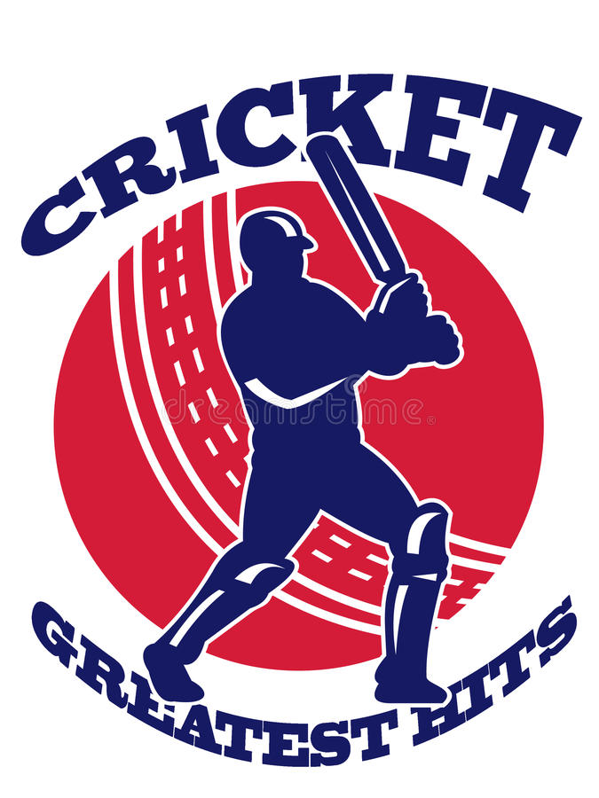 Download Cricket Player Batsman Batting Retro Stock Illustration - Image: 21822909
