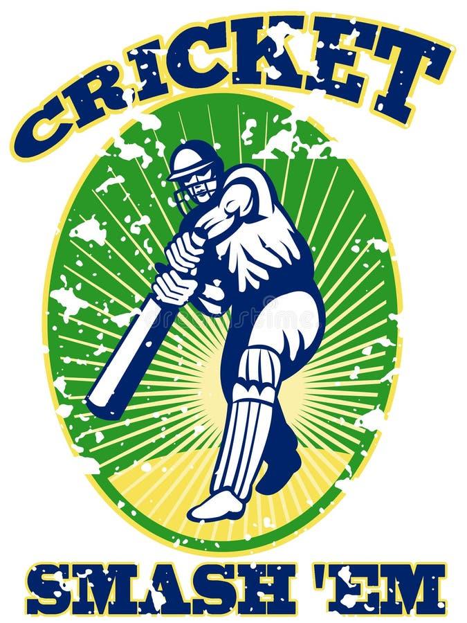 Download Cricket Player Batsman Batting Retro Stock Illustration - Image: 21822923