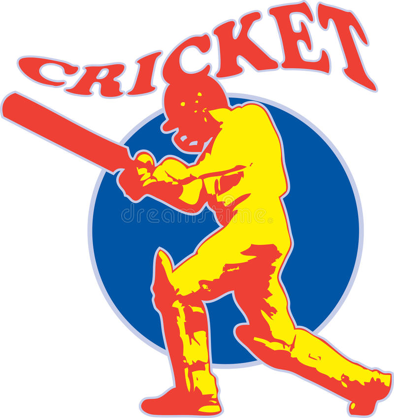 Download Cricket Player Batsman Batting Retro Stock Illustration - Illustration of illustration, artwork: 22018031