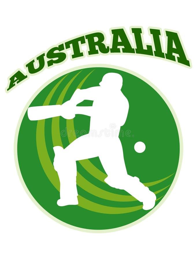Cricket player batsman batting retro Australia