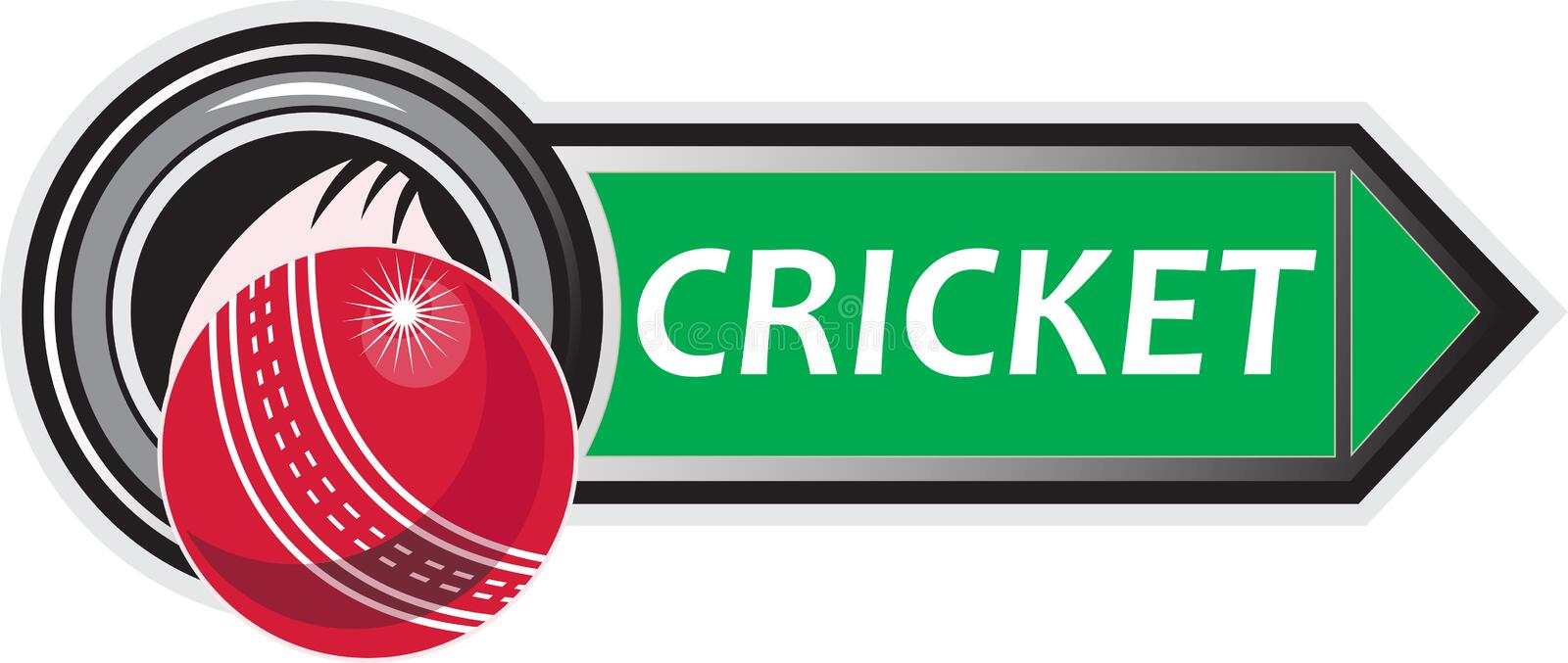Download Cricket sports ball stock illustration. Image of white - 19973691