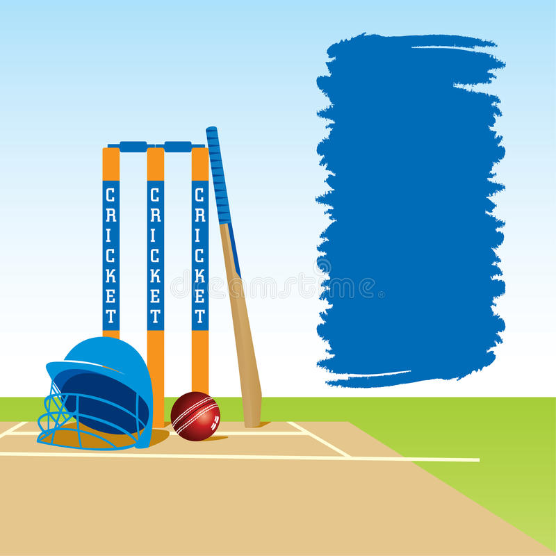Cricket sports banner design royalty free illustration