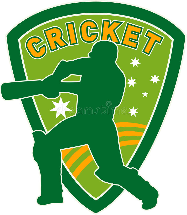 Cricket Sports Player Australia Royalty Free Stock Images