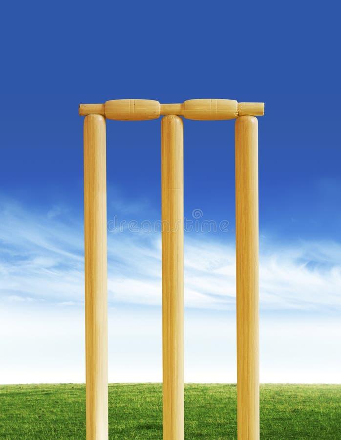 Cricket stumps stock photos