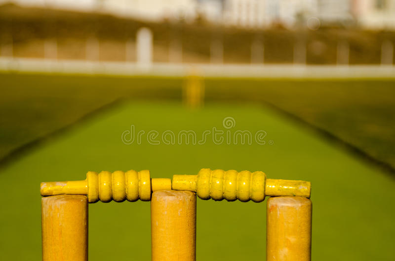 Cricket Stumps stock images