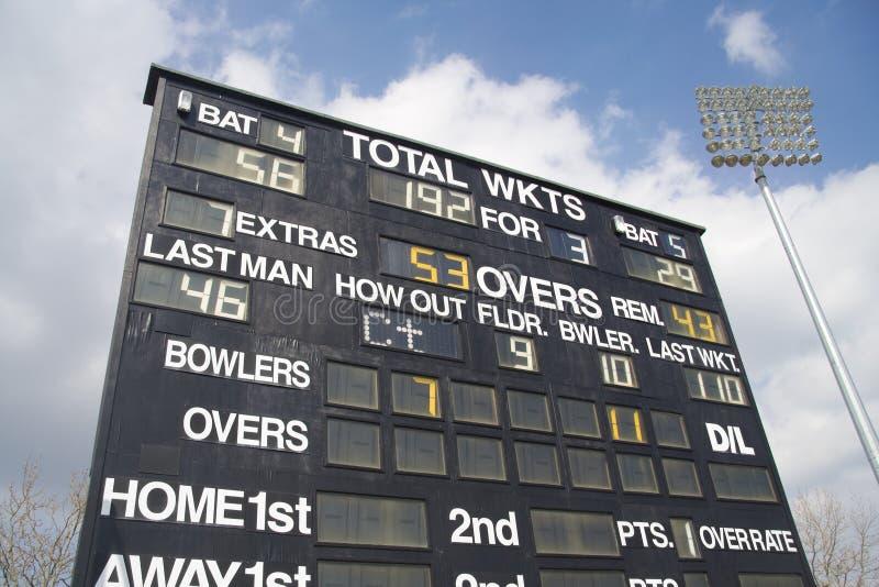 cricket tablica wyników zdjęcie royalty free