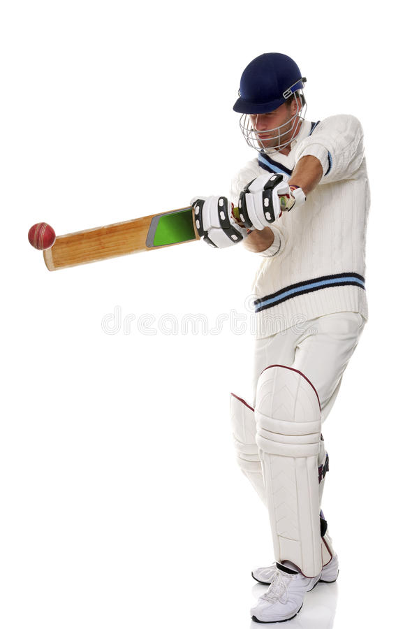 Cricketer playing ashot royalty free stock photos
