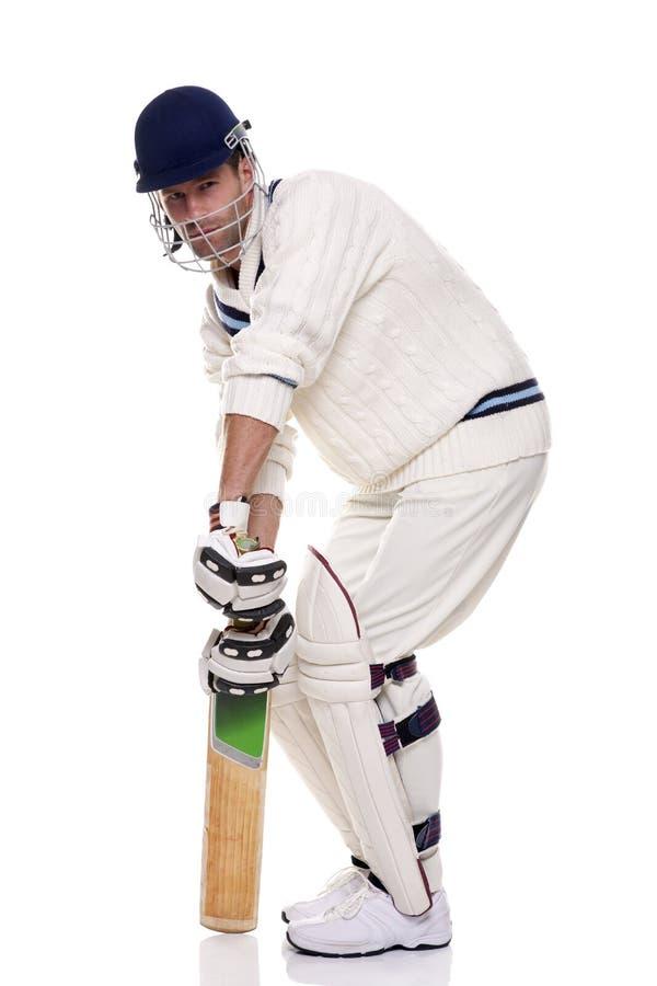 Cricketspeler royalty-vrije stock afbeeldingen