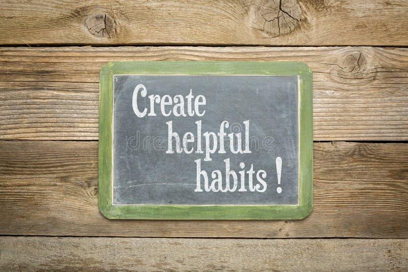 Crie hábitos úteis imagem de stock