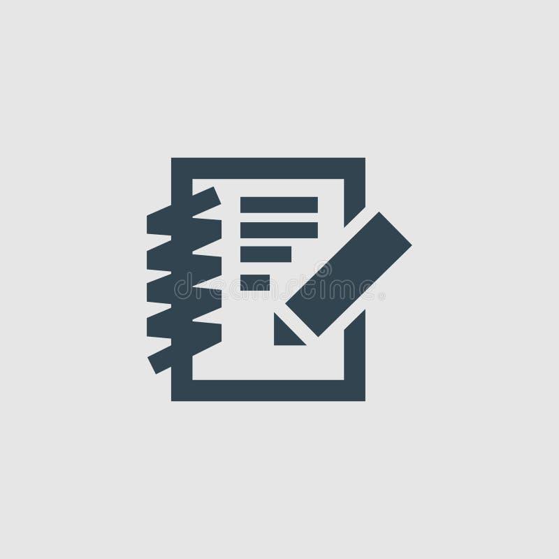 Crie a inspiração do logotipo do projeto do monograma das notas ilustração royalty free