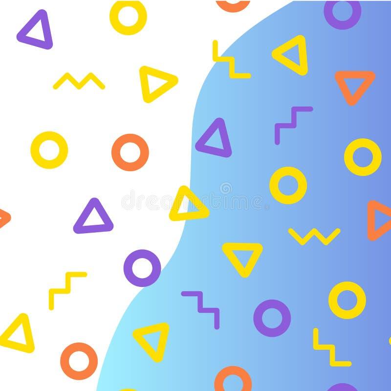 Crie o fundo abstrato geométrico Teste padrão sem emenda, formas, arte, projeto gráfico Moldes da página da aterrissagem ilustração stock