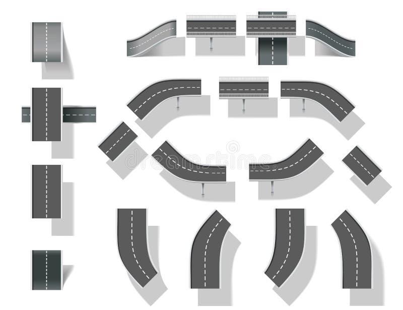 Crie seu mapa (DIY). Peça 4. pontes ilustração stock
