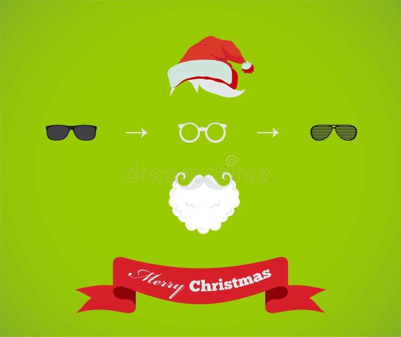 Crie seu próprio cartão de Santa Christmas do moderno ilustração stock