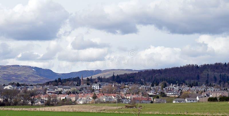 Crieff, colpo e colline della torretta, Perthshire, Scozia immagini stock
