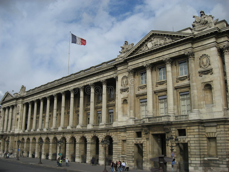 crillon de hotel巴黎 免版税库存图片
