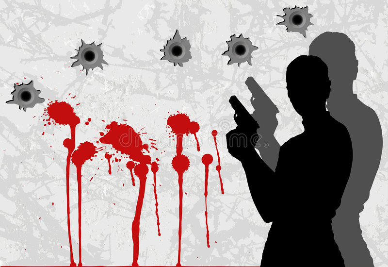 Crime ilustração royalty free