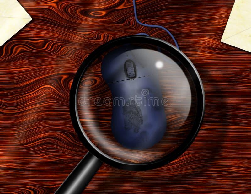 Crime d'Internet illustration stock