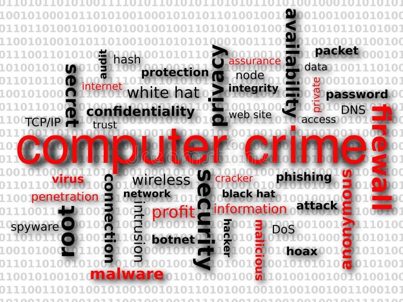 Crime de computador ilustração stock