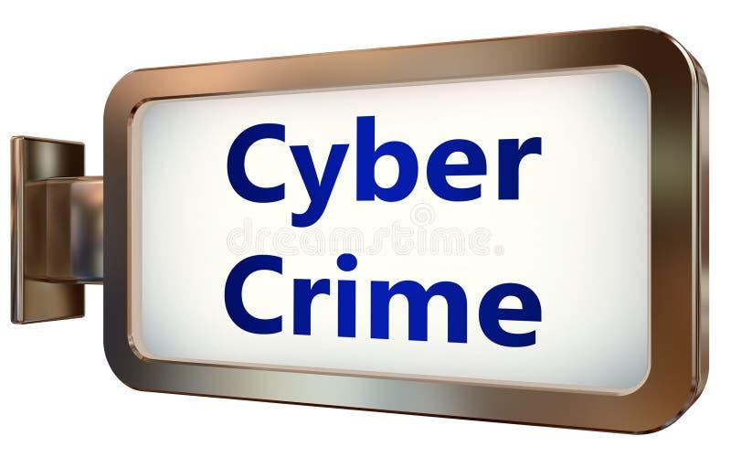 Crime de Cyber sur le fond de panneau d'affichage illustration stock
