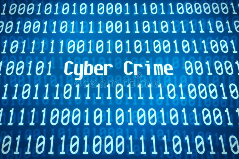 Crime do Cyber foto de stock