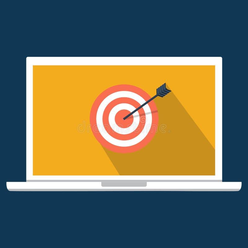 Crime do Cyber, dos de DDOS, ataque do serviço, laptop da vítima V ilustração stock