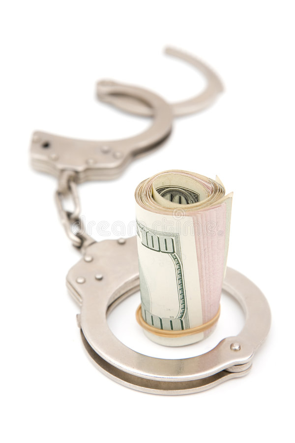 Crime do negócio fotografia de stock