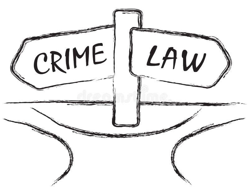 Crime e lei ilustração royalty free