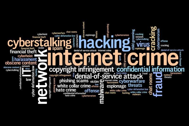 Crime en ligne illustration stock