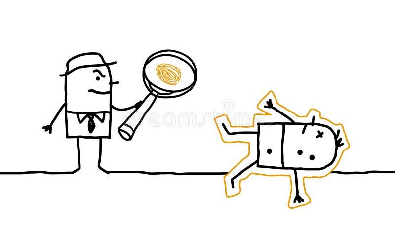 Crime et recherche illustration stock