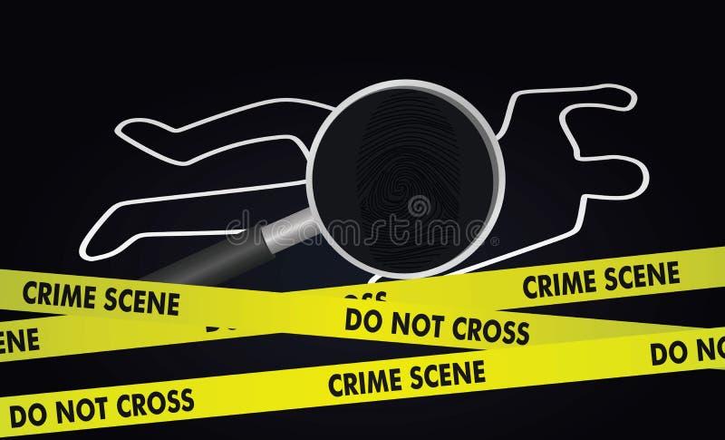 Crime investigation concept stock illustration